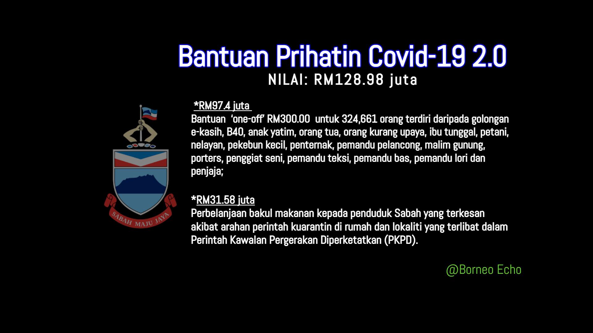 Bantuan Prihatin Covid-19 Sabah@BorneoEcho