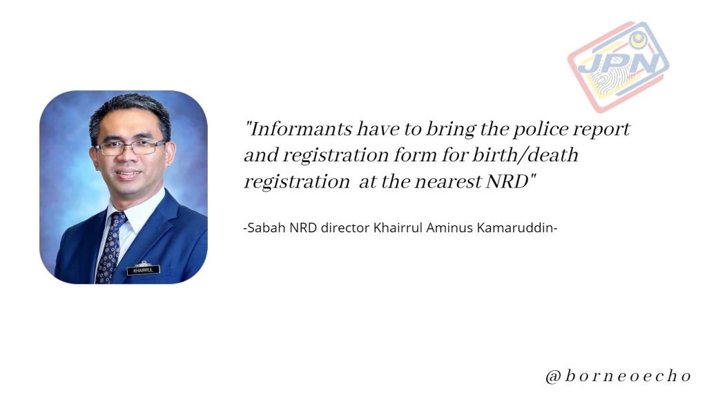 Sabah NRD director Khairrul Aminus Kamaruddin