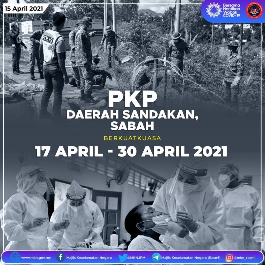 Sandakan di bawah PKP berkuatkuasa 17 April-30 April
