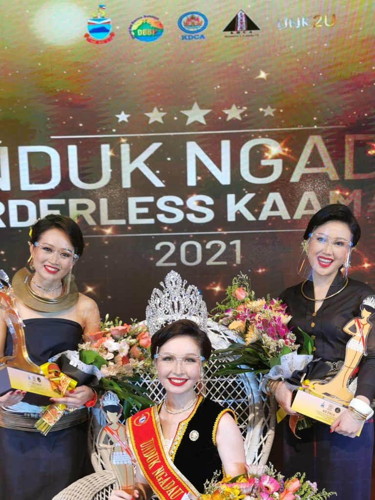 The top three Unduk Ngadau 2021