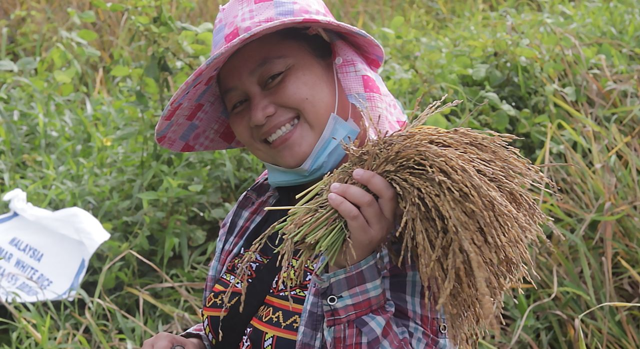 Agang is enthusiastic to continue and expand rice production in the coming planting season.jpg Credit: © Forever Sabah
