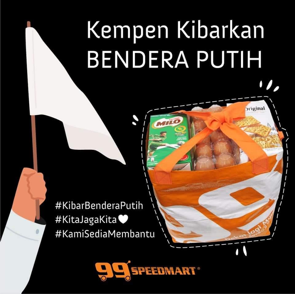 99speedmart sokong kempen kibarkan bendera putih