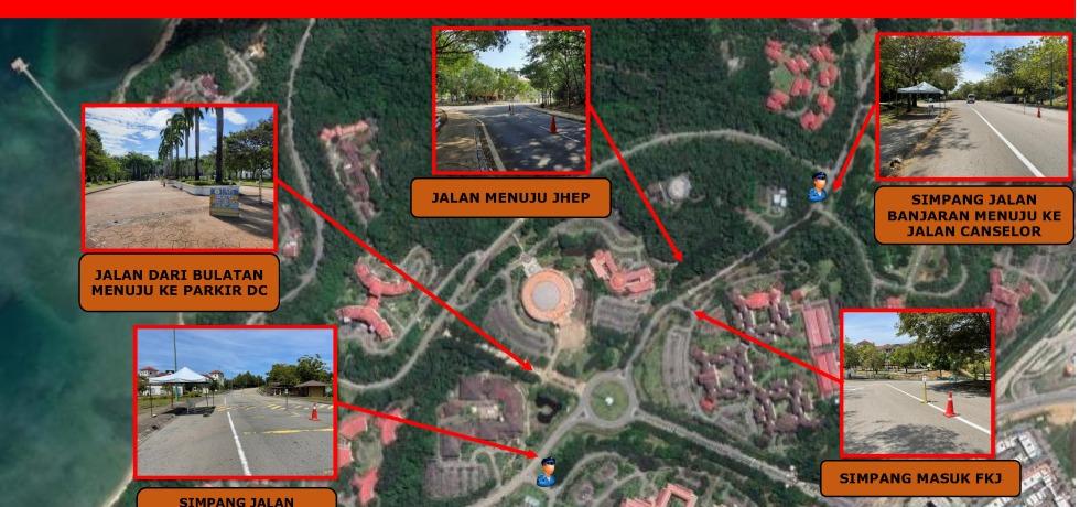 Lokasi kod QR MySejahtera dalam kampus