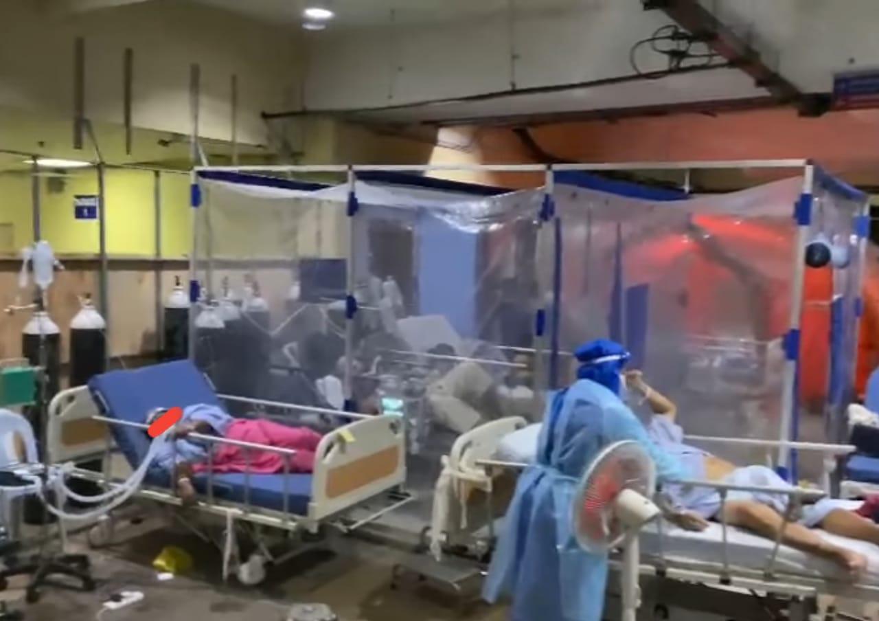 Screenshot of Queen Elizabeth hospital Covid-19