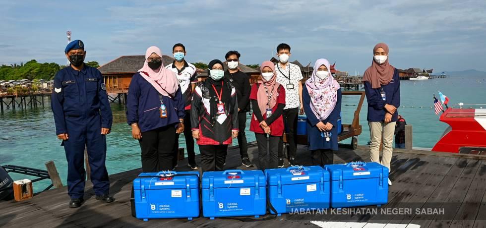 Terima kasih pasukan keselamatan mengiringi petugas kesihatan pada hari ke-2 pagi ini Program Vaksinasi Outreach di Pulau Mabul, Semporna.